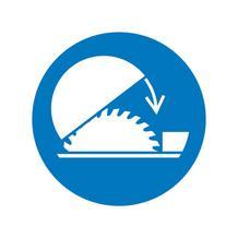 Gebotsschild - Schutzhaube für Tischkreissäge benutzen