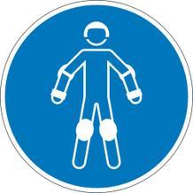 Gebotsschild - Schutzausrüstung für Rollsport benutzen