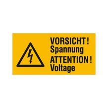 Warn-Kombischild - Vorsicht! Spannung - Mehrsprachig