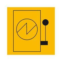 Hinweisschild - Elektrotechnik - Hauptschalter (Symbol)