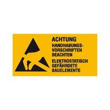 Warn-Kombischild - Elektrostatisch gefährdete Bauelemente - Form B