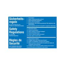Hinweisschild - Elektrotechnik - 5 Sicherheitsregeln - Mehrsprachig