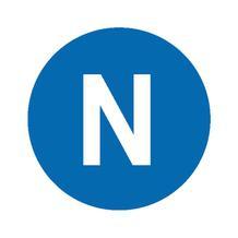 Etiketten - Kennzeichnung elektrischer Leiter - N (Neutralleiter)