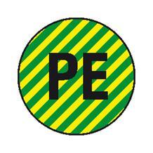 Etiketten - Kennzeichnung elektrischer Leiter - PE (Schutzleiter)