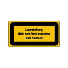 Warn-Zusatzschild - Laserkennzeichnung - Laserstrahlung Nicht dem Strahl ... - Laser Klasse 3B