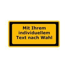 Warn-Zusatzschild - Laserkennzeichnung - mit Text nach Wahl