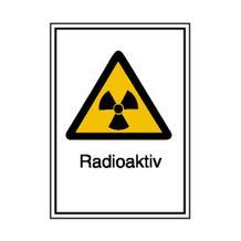 Warn-Kombischild - Strahlenschutz - Radioaktiv