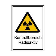 Warn-Kombischild - Strahlenschutz - Kontrollbereich Radioaktiv