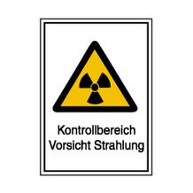 Warn-Kombischild - Strahlenschutz - Kontrollbereich Vorsicht Strahlung