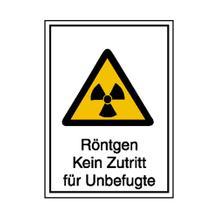 Warn-Kombischild - Strahlenschutz - Röntgen Kein Zutritt für Unbefugte