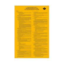 Aushang - Berufsgenossenschaft - Betriebsvorschriften für Krane