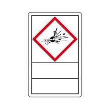 GHS-Gefahrensymbole auf Rolle - Gefahrstoffetiketten und Beschriftungsfeld