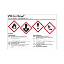 Gefahrstoffetikett - Ottokraftstoff