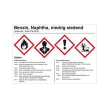 Gefahrstoffetikett Benzin - Naphtha niedrig siedend