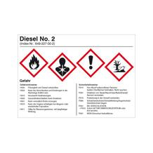 Gefahrstoffetikett - Diesel No. 2 - Dieselkraftstoff
