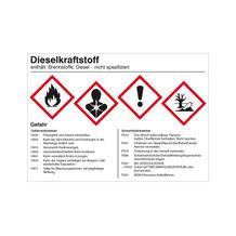 Gefahrstoffetikett - Dieselkraftstoff