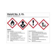 Gefahrstoffetikett - Heizöl EL No. 2