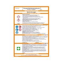 Gefahrstoff - Gruppenbetriebsanweisung - Säuren und Laugen