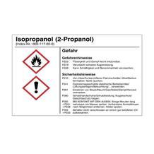 Gefahrstoffetikett - Isopropanol (2-Propanol) - für Behälter mit einem Fassungsvermögen bis 3 Liter