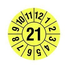 Prüfplakette - Jahresplakette - 2-stellige Jahreszahl - in Jahresfarbe