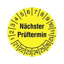 Prüfplakette - Nächster Prüftermin - in Jahresfarbe