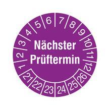 Prüfplakette - Nächster Prüftermin - Violett/Weiss