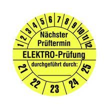 Prüfplakette - Nächster Prüftermin - ELEKTRO-Prüfung - durchgeführt durch: