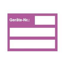 Inventar-Kennzeichnungsetiketten - Text: Geräte-Nr.: - 2 Farben