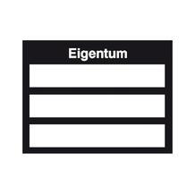 Inventar-Kennzeichnungsetiketten - Text: Eigentum