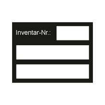 Inventar-Kennzeichnungsetikett - Maxi - Text: Inventar-Nr.: - 4 Farben