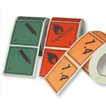 Gefahrzettel (Gefahrgutaufkleber) - Verschied. Klassen / Symbole - Rolle - 10 cm