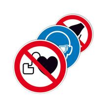 PROTECT - widerstandsfähiges Gebots- oder Verbotsschild - mit verschiedenen Symbolen