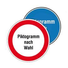 PROTECT - widerstandsfähiges Gebots- oder Verbotsschild - mit Piktogramm nach Wunsch