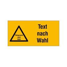 PROTECT - widerstandsfähiges Warn-Kombischild - mit Piktogramm und Text nach Wunsch