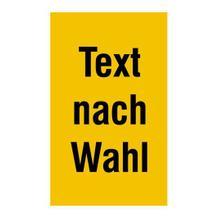 PROTECT - widerstandsfähiges Warnschild - mit individuellem Text und Farbe