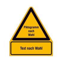 PROTECT - widerstandsfähiges Sicherheitsschild - mit Piktogramm und Text nach Wunsch