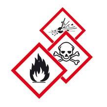 PROTECT - widerstandsfähige GHS-Kennzeichnung - mit verschiedenen Symbolen