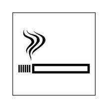 Hinweisschild - Betriebskennzeichnung - Rauchen gestattet
