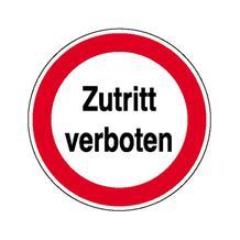 Verbotsschild - Betriebskennzeichnung - Zutritt verboten