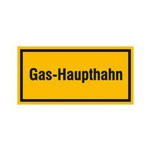 Hinweisschild - Betriebskennzeichnung - Gas-Haupthahn