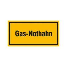 Hinweisschild - Betriebskennzeichnung - Gas-Nothahn