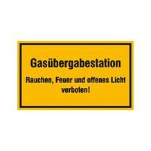 Hinweisschild - Betriebskennzeichnung - Gasübergabestation ...