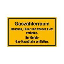 Hinweisschild - Betriebskennzeichnung - Gaszählerraum ...