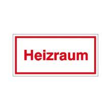 Hinweisschild - Betriebskennzeichnung - Heizraum