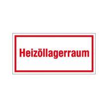 Hinweisschild - Betriebskennzeichnung - Heizöllagerraum