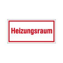 Hinweisschild - Betriebskennzeichnung - Heizungsraum