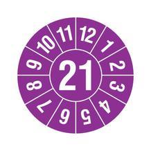 Prüfplakette - Jahresplakette mit 2-stelliger Jahreszahl