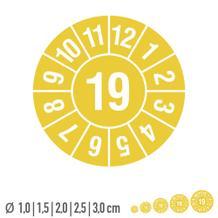 Prüfplakette mit Jahresfarbe - Jahreszahl - auf Rolle
