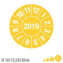 Prüfplakette mit Jahresfarbe - Jahreszahl - auf Bogen