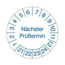 Prüfplakette - Nächster Prüftermin - Blau/Weiss
